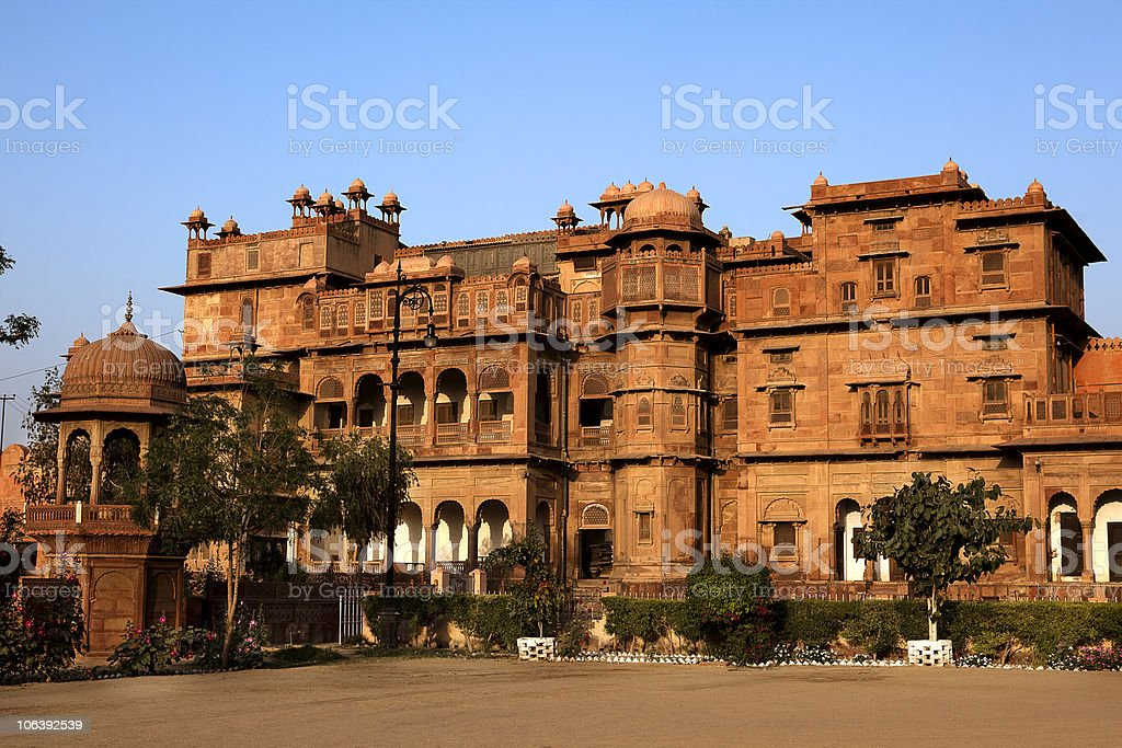 courtyard  Junagarh Fort in Bikaner rajasthan india stock photo
