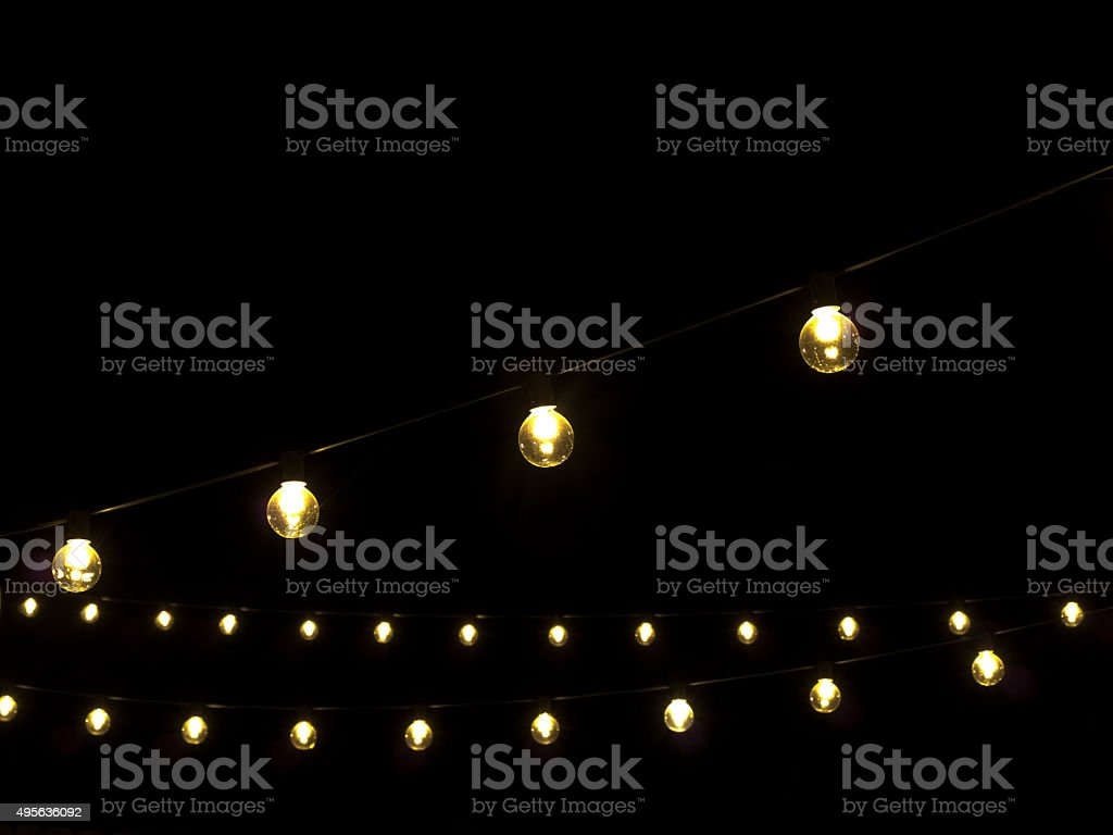 Courtyard Lights royalty-free stock photo