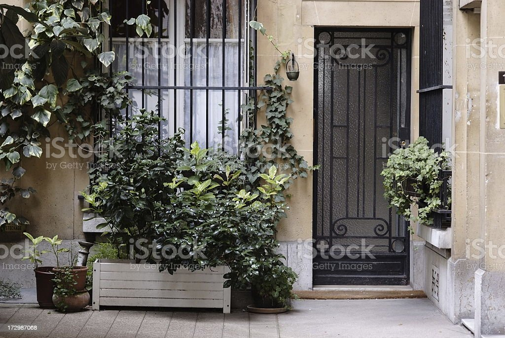 courtyard stock photo