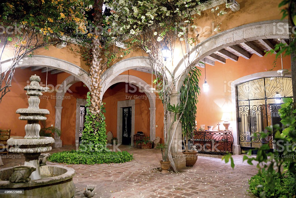 Courtyard stock photo