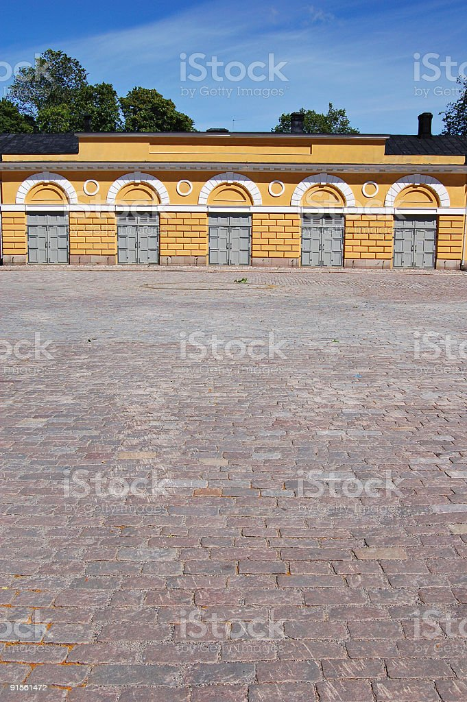 Courtyard royalty-free stock photo