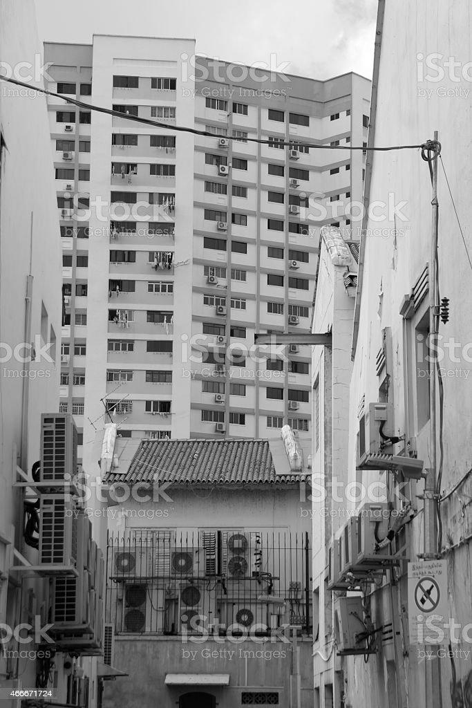 Courtyard Singapore stock photo