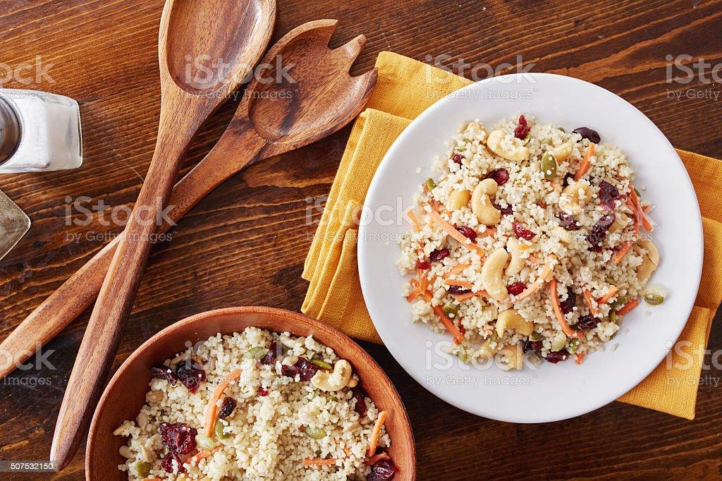 couscous cold salad stock photo
