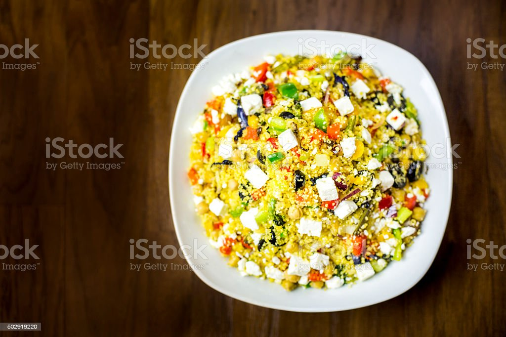 Couscous Salad stock photo