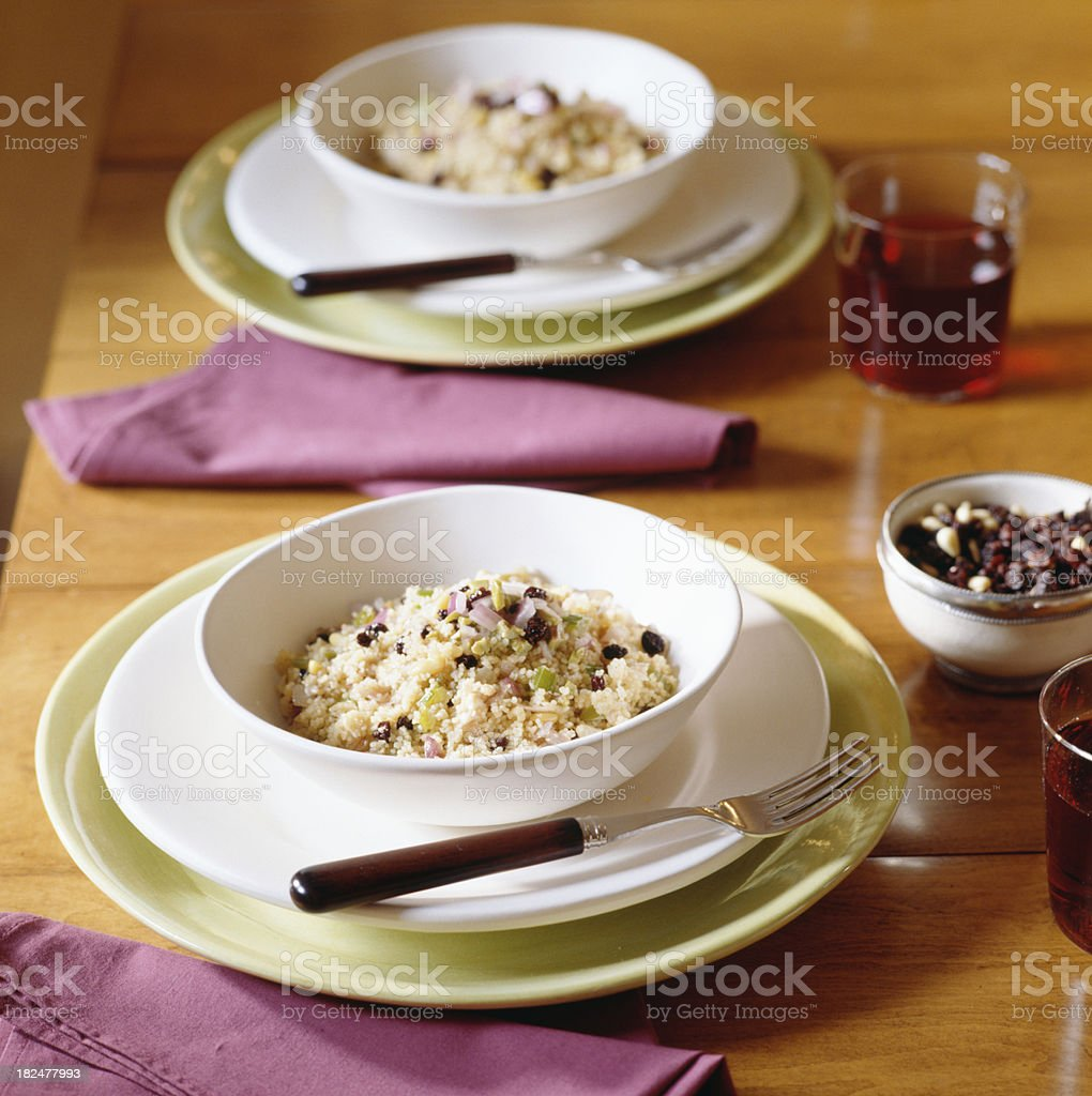 Couscous with currants royalty-free stock photo