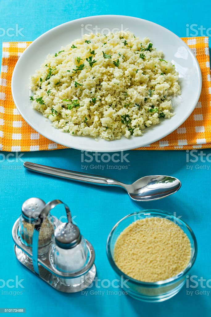CousCous with parsley royalty-free stock photo