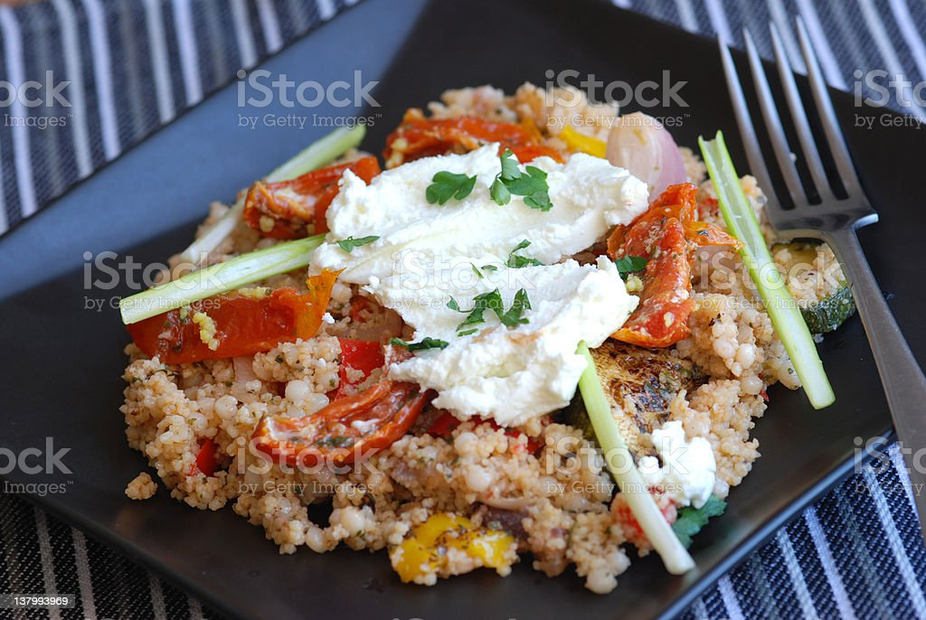Couscous with vegetables royalty-free stock photo