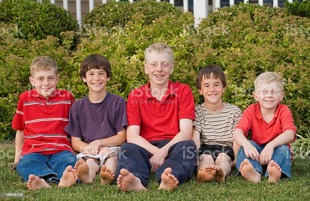 Cousins stock photo