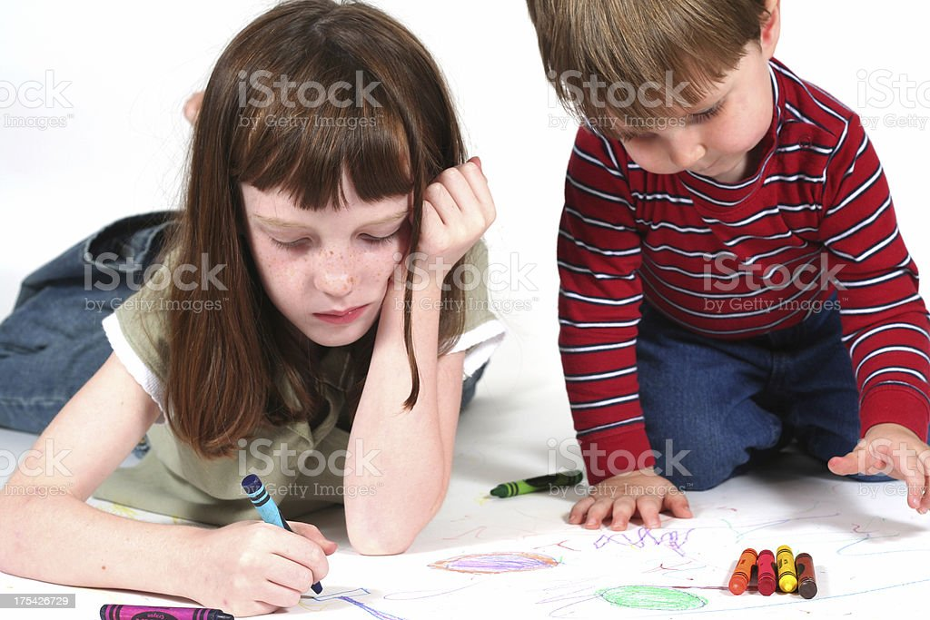 Cousins Playing royalty-free stock photo
