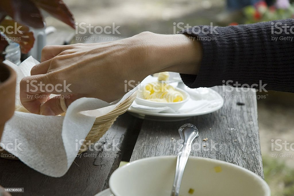 Coutry-style breakfast stock photo