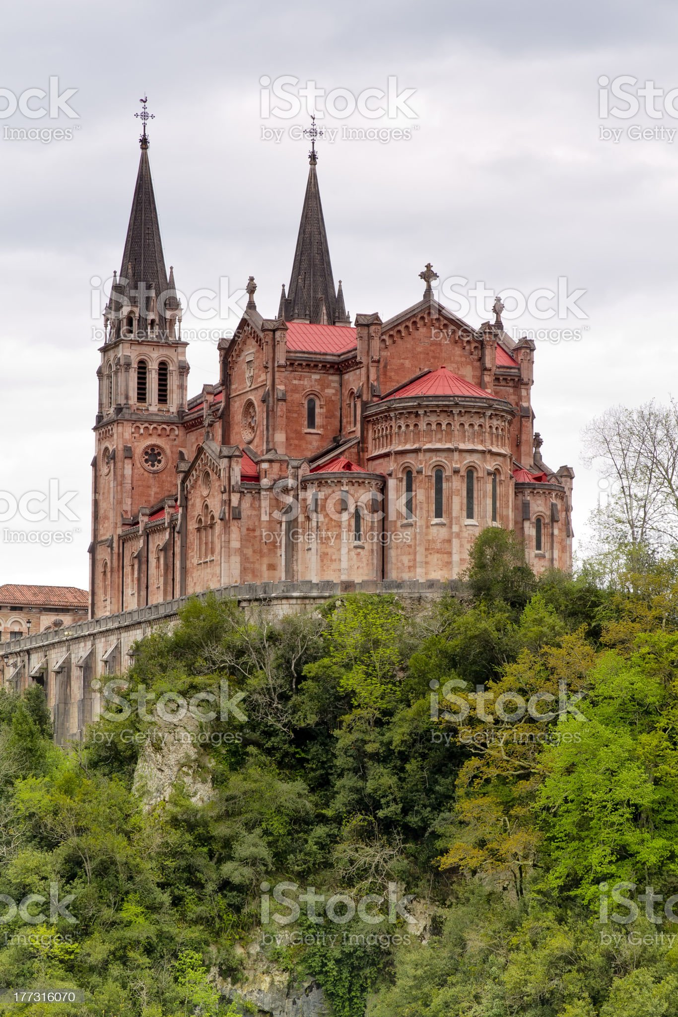 Covadonga sanctuary, Asturias, Spain royalty-free stock photo