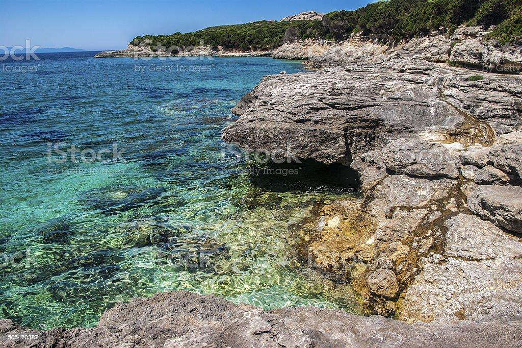 Cove at Capo Testa, Sardinia royalty-free stock photo