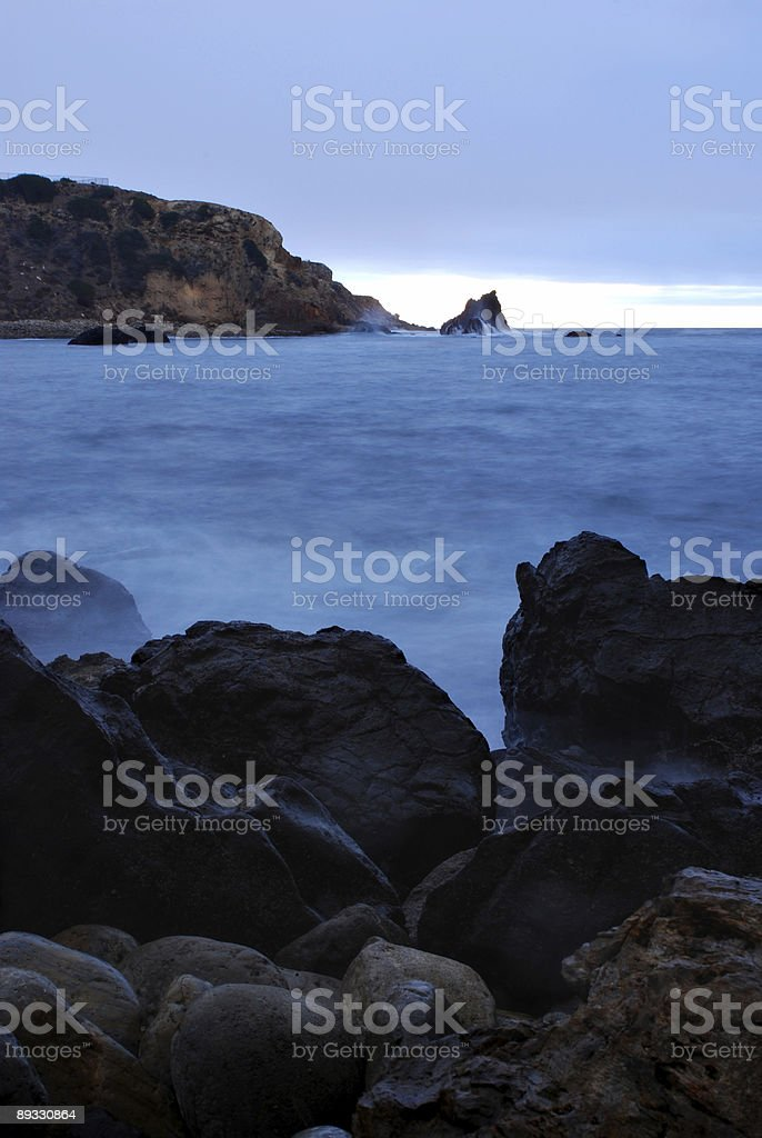 Cove at Twilight royalty-free stock photo