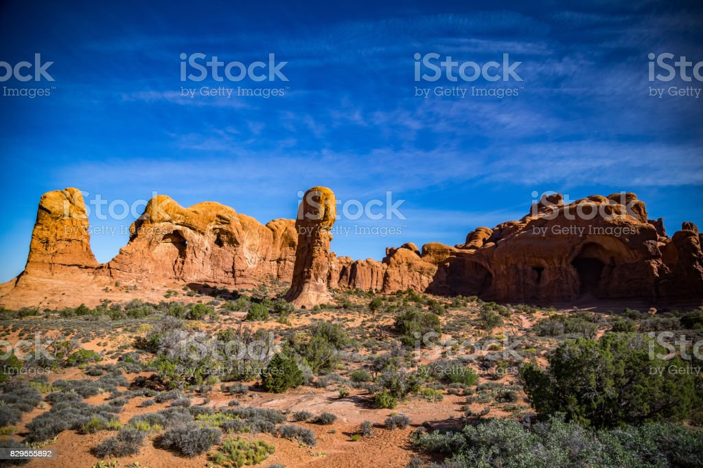 Cove of Caves Arches National Park stock photo