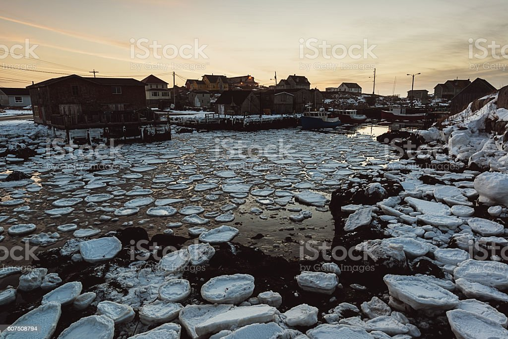 Cove of Ice stock photo