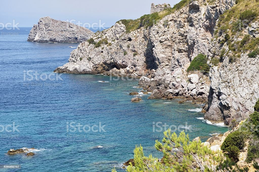 cove of the chalk stock photo