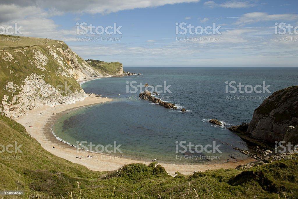 Cove on the Dorset Coast royalty-free stock photo
