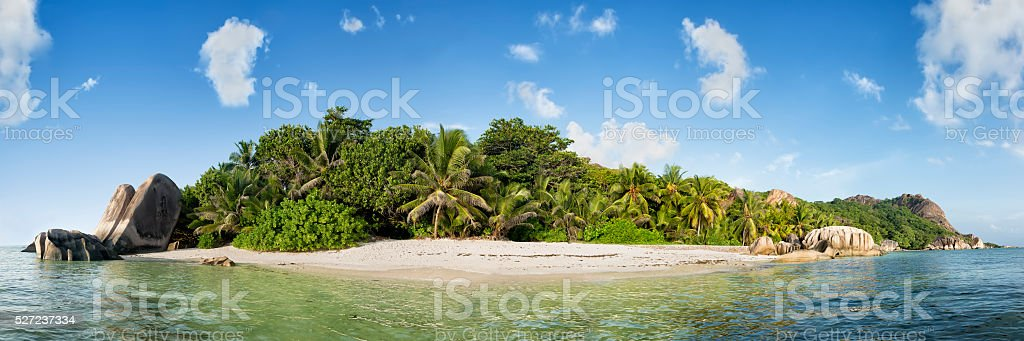 anse source d'argent beach on la digue island in seychelles royalty-free stock photo