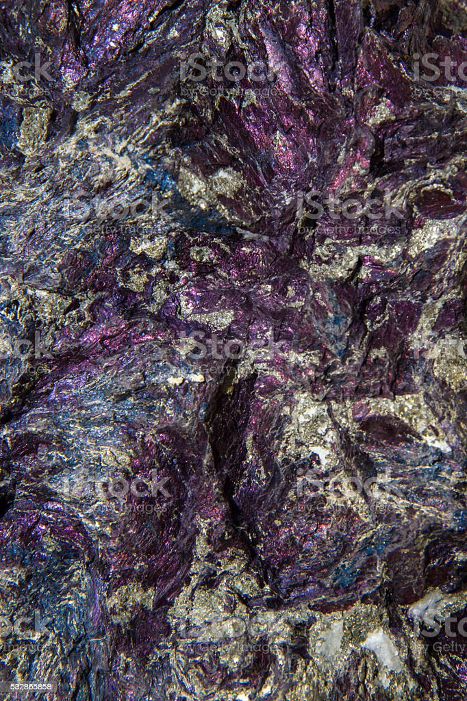 Covellite mineral background stock photo