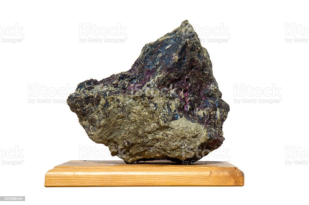 Covellite mineral stock photo