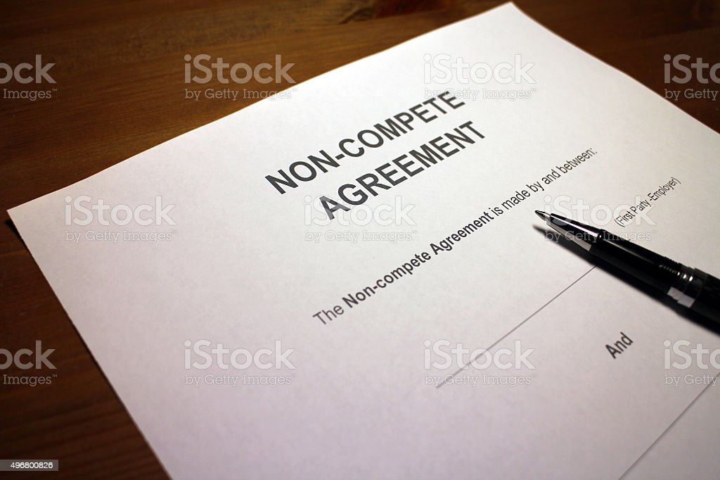 Covenant not to compete stock photo