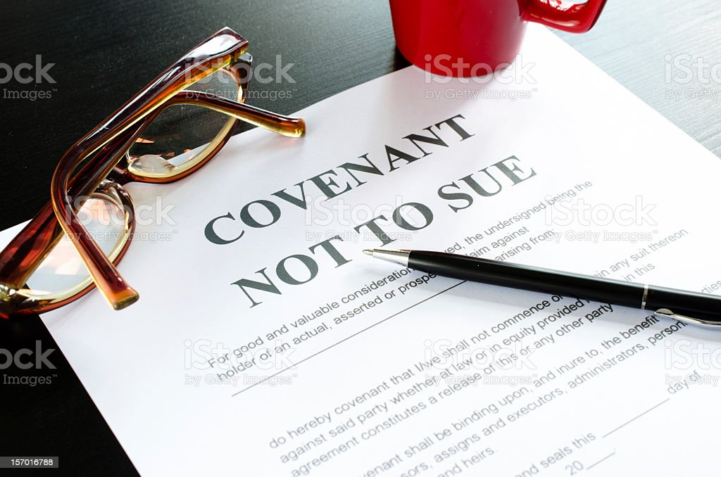 covenant not to sue stock photo