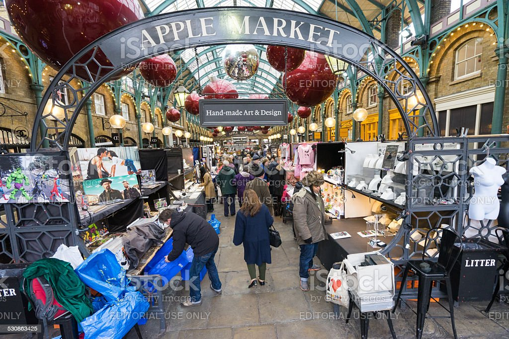 Covent Garden at Christmas time, London stock photo