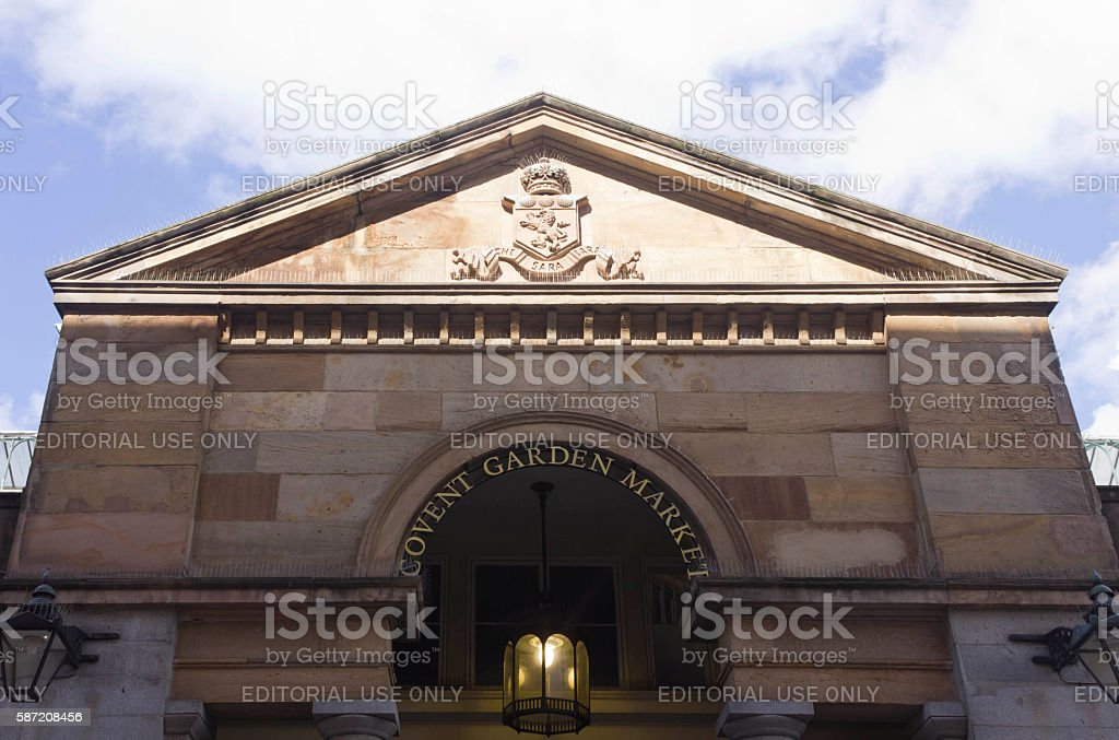 Covent Garden Market main facade stock photo