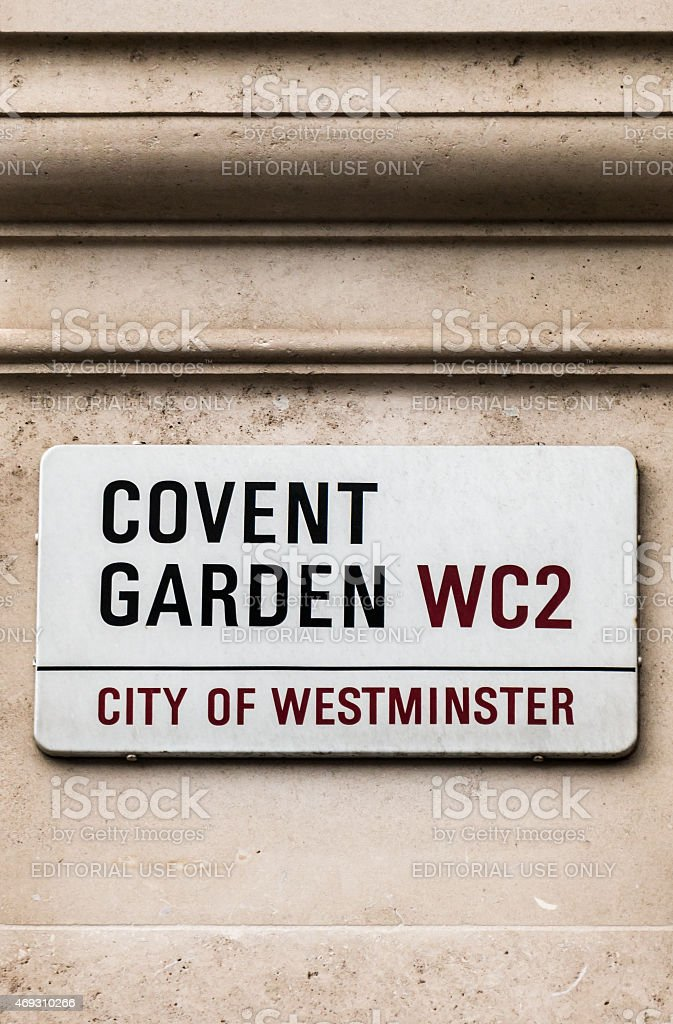 Covent Garden Sign, London stock photo