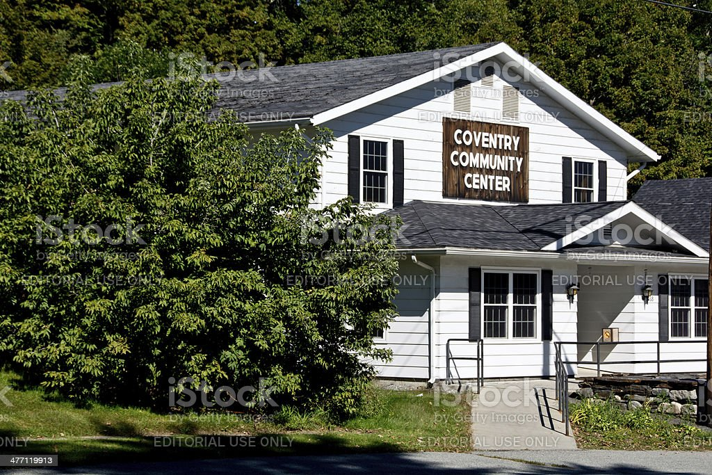 Coventry, Vermont Community Center stock photo