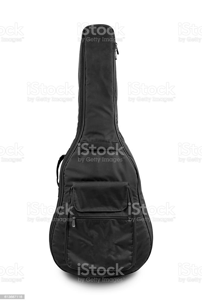 cover guitar isolated on white background with clipping path stock photo