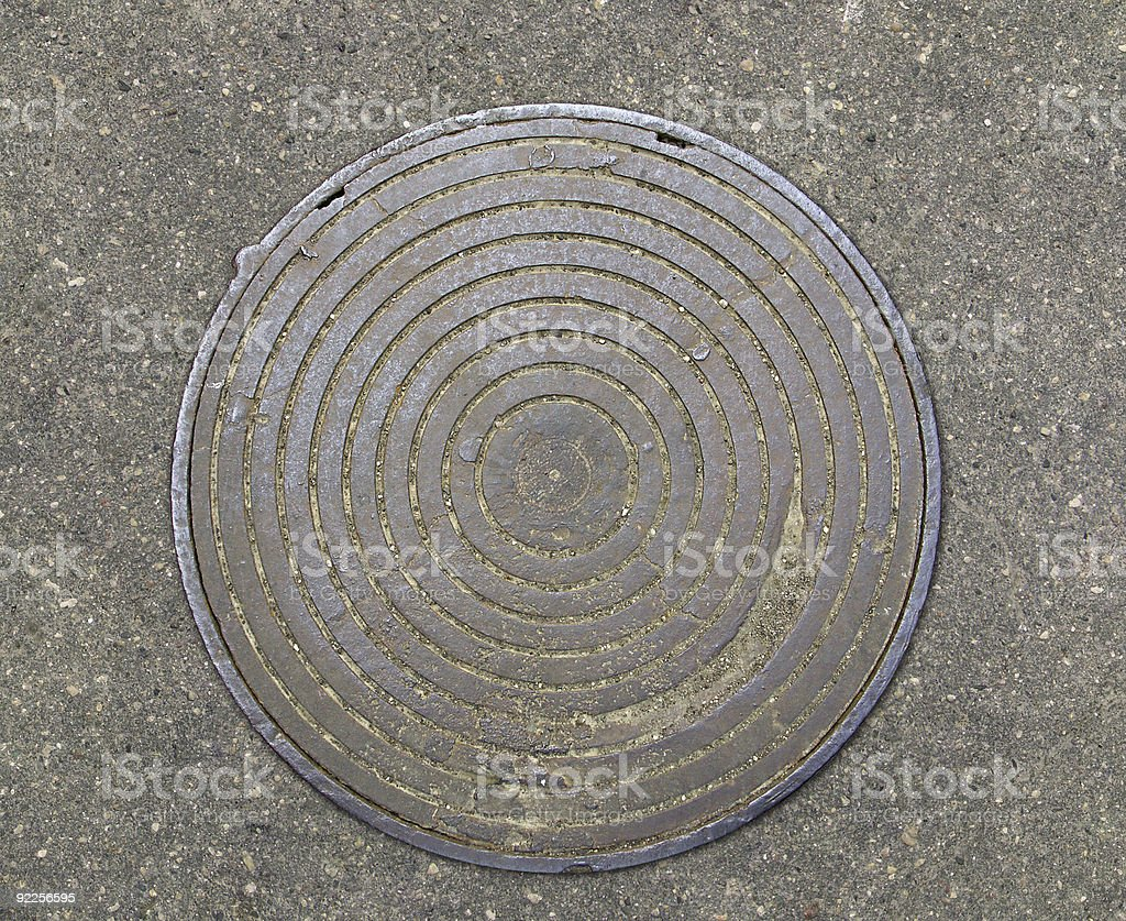 Cover of a manhole royalty-free stock photo