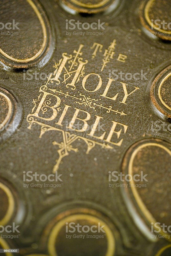 Cover of an antique bible royalty-free stock photo