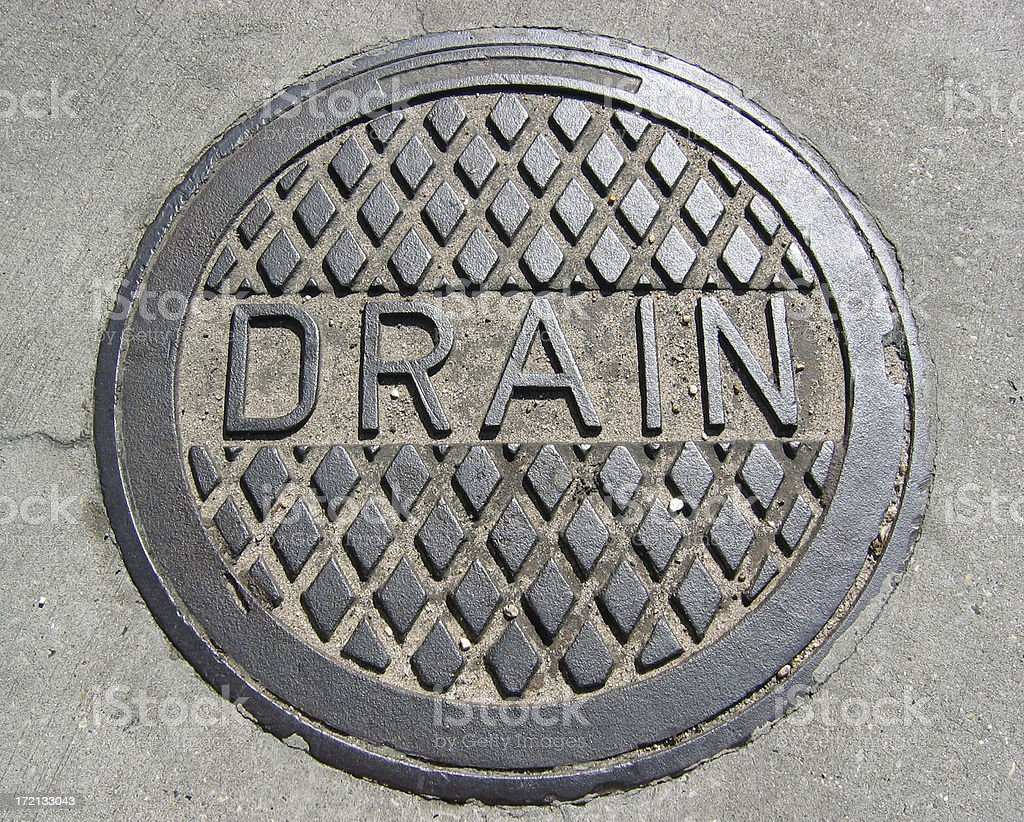 Cover of Drain, Large and Closeup stock photo