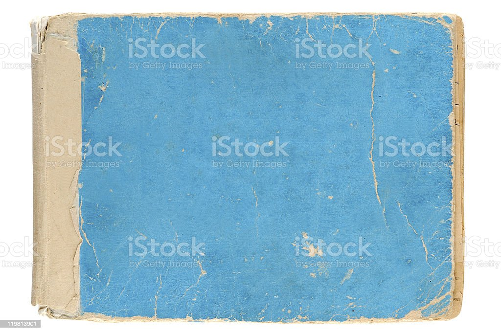 Cover of old notebook stock photo