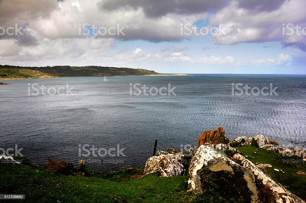 Coverack Bay stock photo