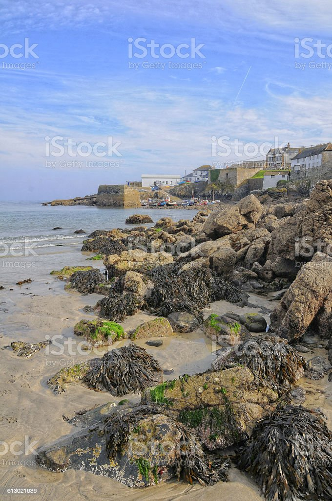 Coverack Beach. stock photo