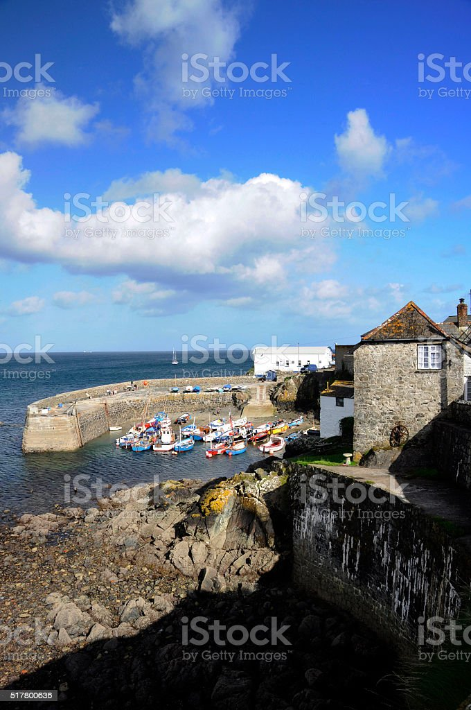 Coverack Harbour stock photo