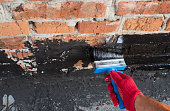 covered brick wall  primer