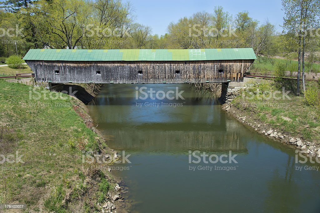 Covered Bridge 139Ft VT royalty-free stock photo