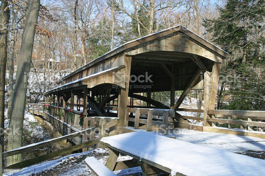 Covered Bridge 2 - Youngstown, Ohio stock photo