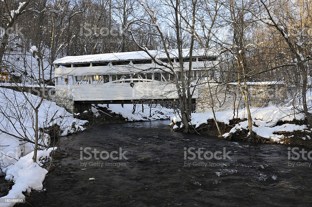 Covered Bridge in Eastern PA stock photo
