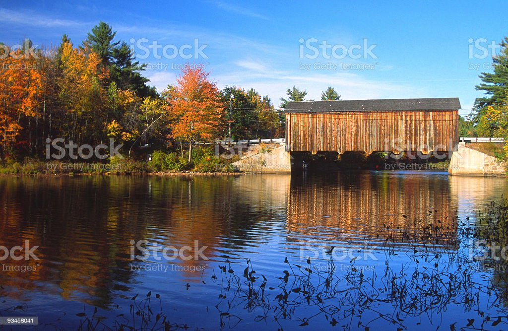 Covered Bridge in New Hampshire royalty-free stock photo