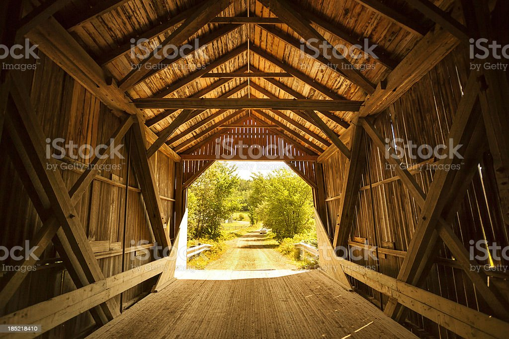 Covered bridge in the country royalty-free stock photo