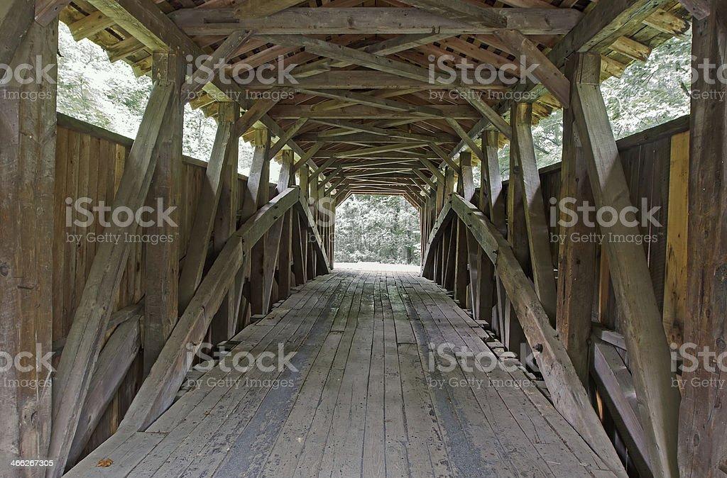 Covered Bridge Interior stock photo