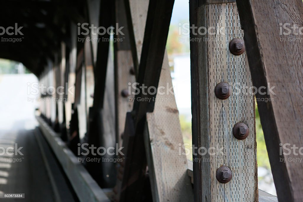 Covered bridge Lancaster New Hampshire stock photo