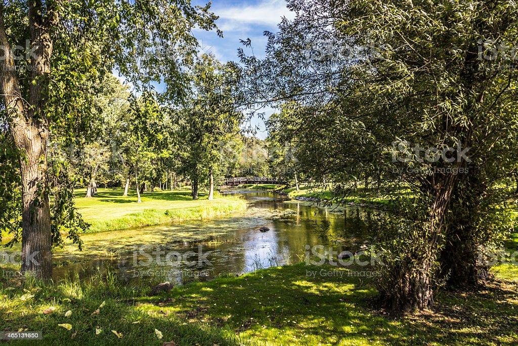 Covered Bridge Park stock photo