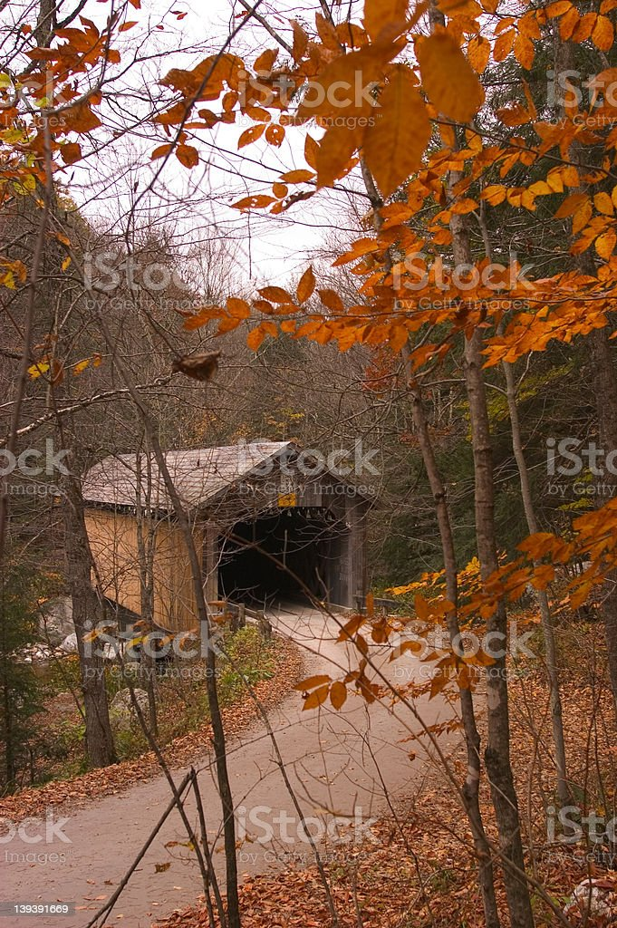 Covered bridge royalty-free stock photo