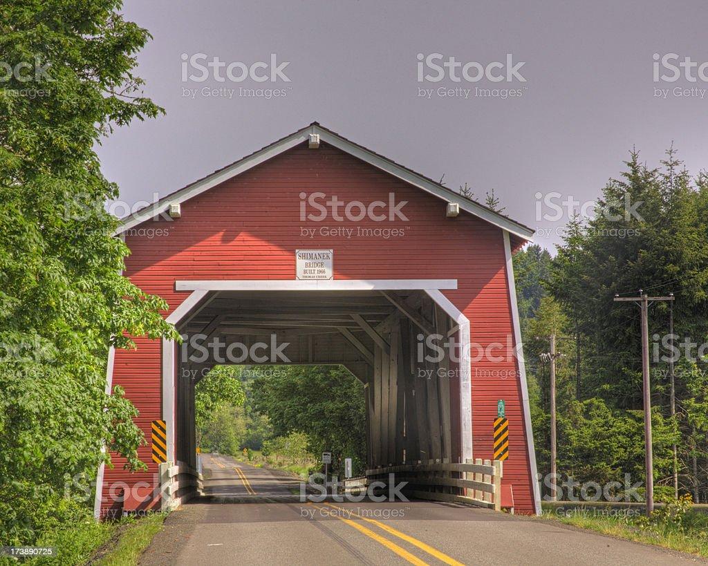 'Covered Bridge, Southern Oregon' stock photo