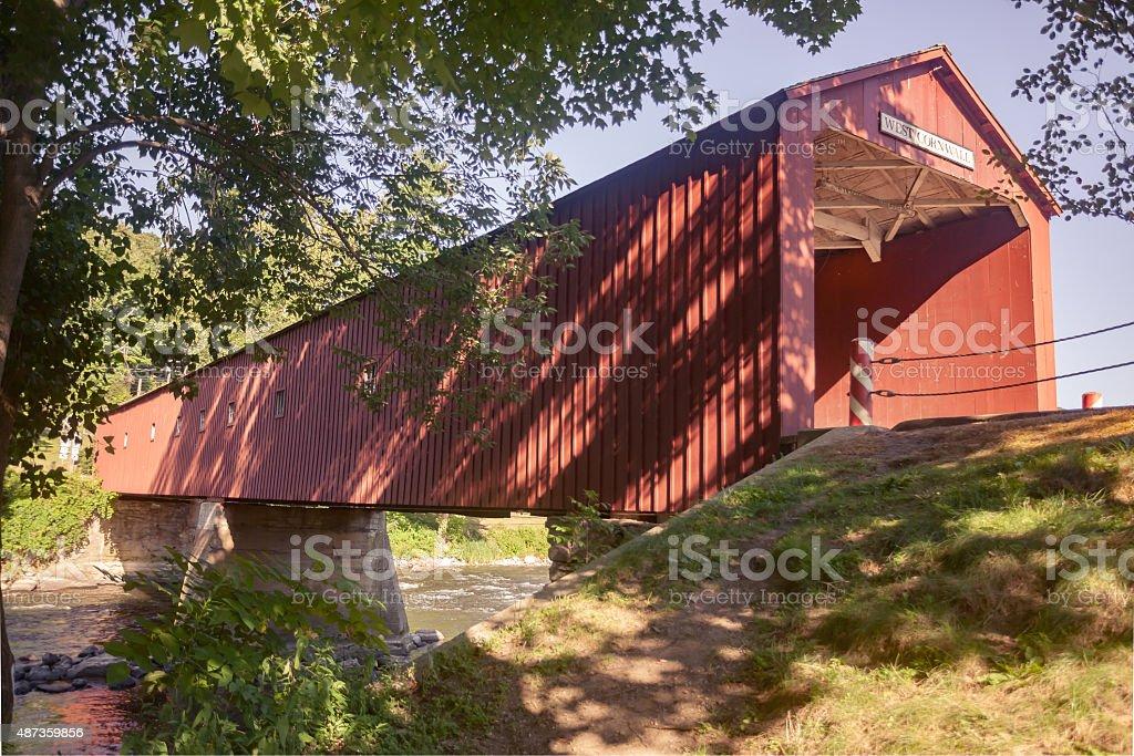 Covered Bridged stock photo